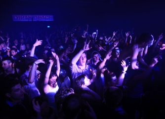 Clubbers dance at the Ministry of Sound nightclub in south London
